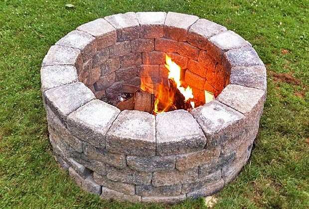 How to Build a Bonfire Pit (Video)
