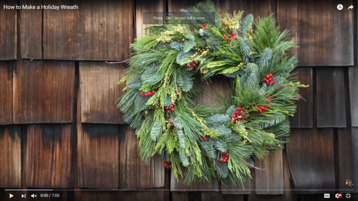 How to Make a Holiday Wreath (Video)