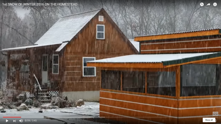First Snow of Winter on the Homestead (Video)