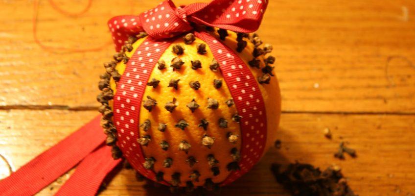 Clove and Orange Christmas Decorations