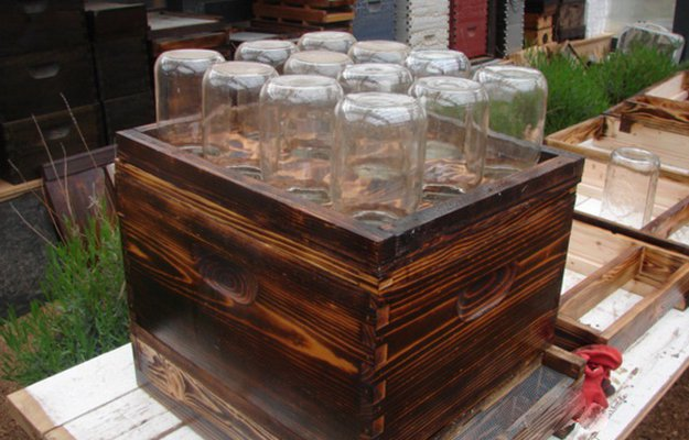 DIY Mason Jar Beehive