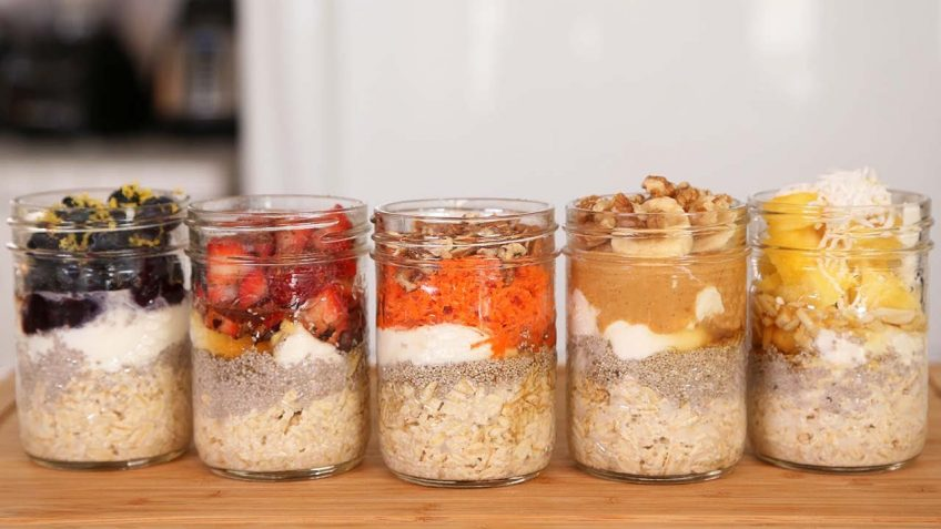 Overnight Oats-5 Different Ways (Video)