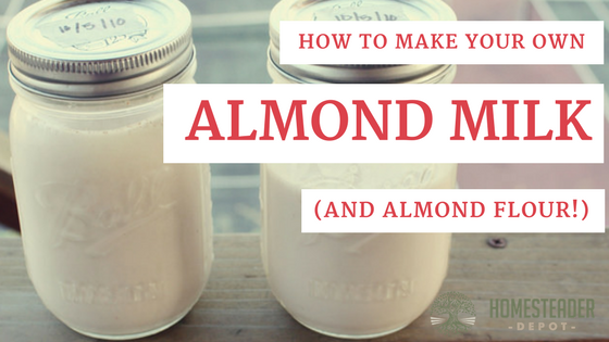 How to Make Almond Milk (and Almond Flour!)
