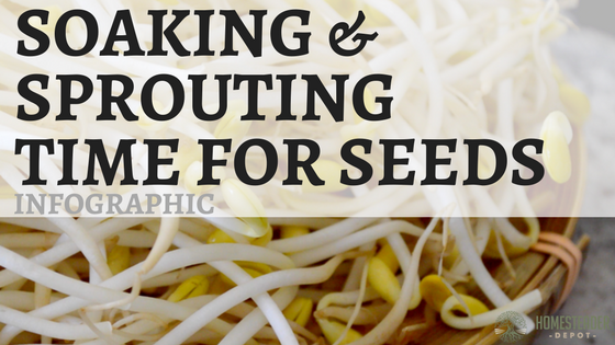 Soaking and Sprouting Times for Seeds (Infographic)