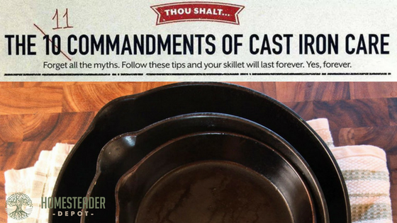 The 11 Commandments of Cast Iron Care (Graphic)