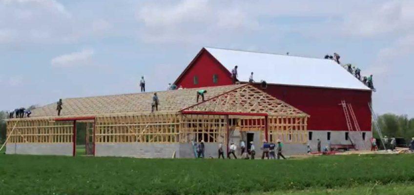 Amish Barn Raising (Video)