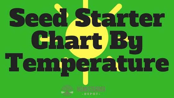 Seed Starter Chart By Temperature (Infographic)