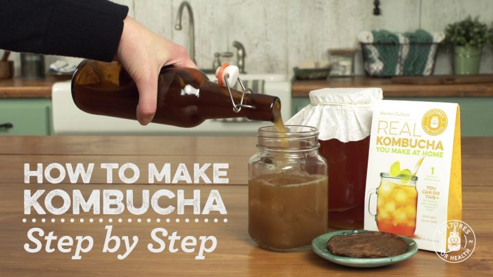 How to Make Kombucha Tea (Video)