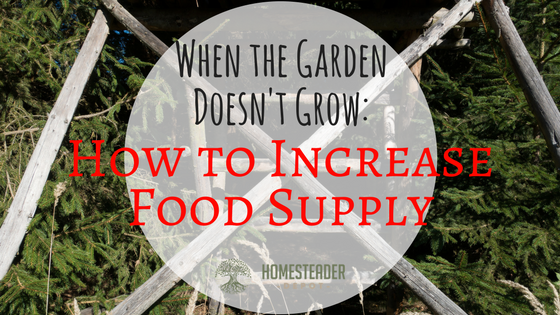 When the Garden Doesn't Grow: How to Increase Food Supply