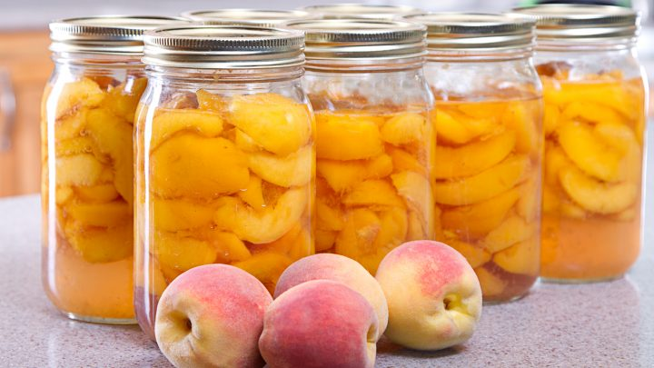 No Sugar Canned Peaches