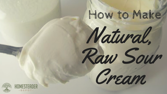 How to Make Natural, Raw Sour Cream